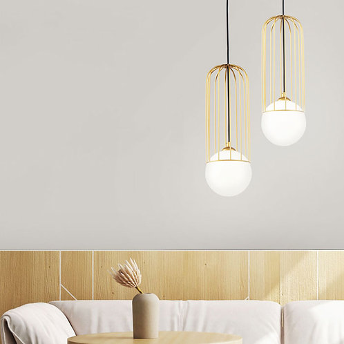 Modern Gold and Black Single Lamp Pendant