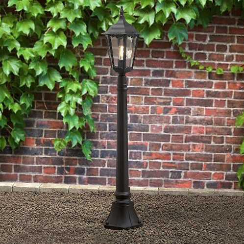 Black Outdoor Pathway Lantern at 1.2 Meters High