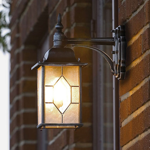 Outdoor Leaded Effect Black and Silver Down Light