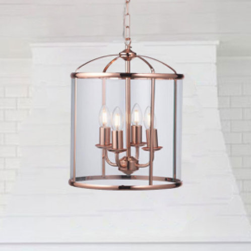 4-Light Ceiling Lantern in Copper Finish
