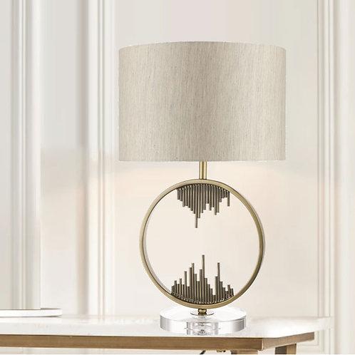 Manhattan Antique Brass Table Lamp