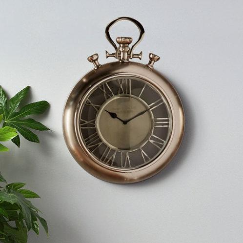 Matt Nickel Aluminium and Glass Stopwatch Wall Clock