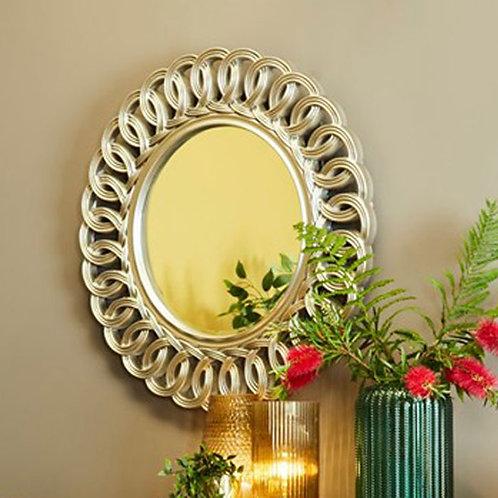 Round Champagne Loop Mirror