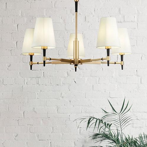 Elegant 5 Light Polished Brass Pendant