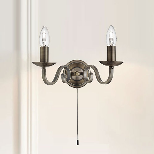 Dual Effect Candle Wall Light
