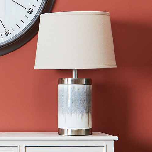Two Tone Mottled Table Lamp