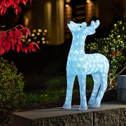 Small Exterior LED Light Reindeer 38cm