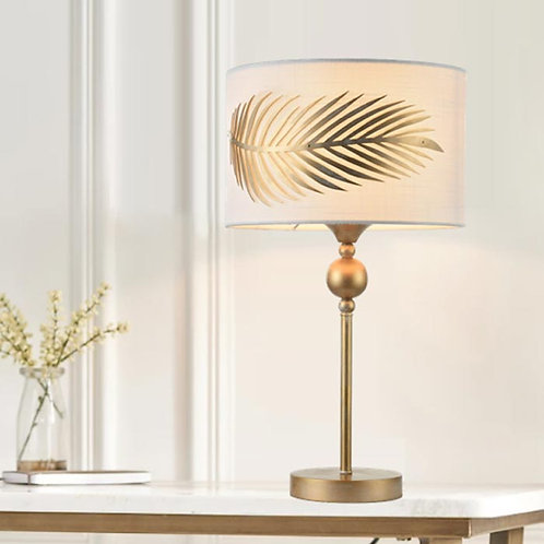 Gold Fern Leaf Table Lamp