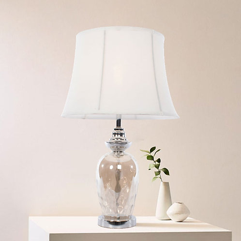 Chrome and Glass Table Lamp