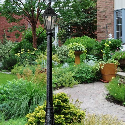 Medium Black Outdoor Lamp Post