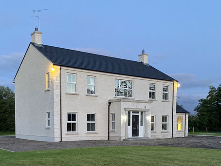 County Tyrone New Build Home reveals their Designer Kitchen with Lighting by Castle Lighting