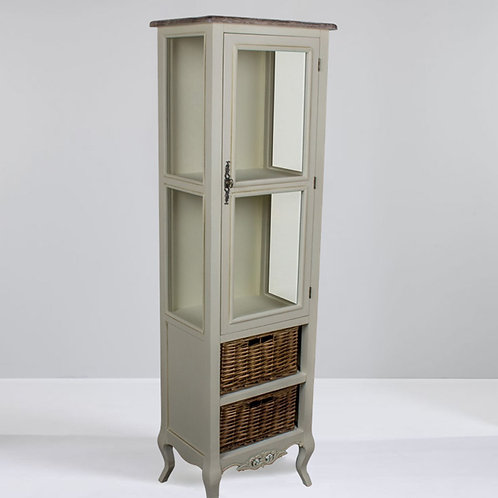 Chateau Style Cabinet with Two Baskets