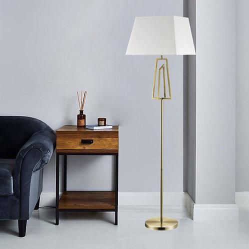 Antique Brass Floor Lamp with Unique Square Design