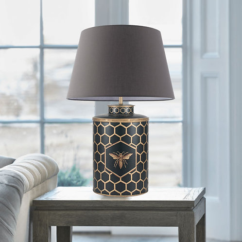 Bumble Bee Black Table Lamp