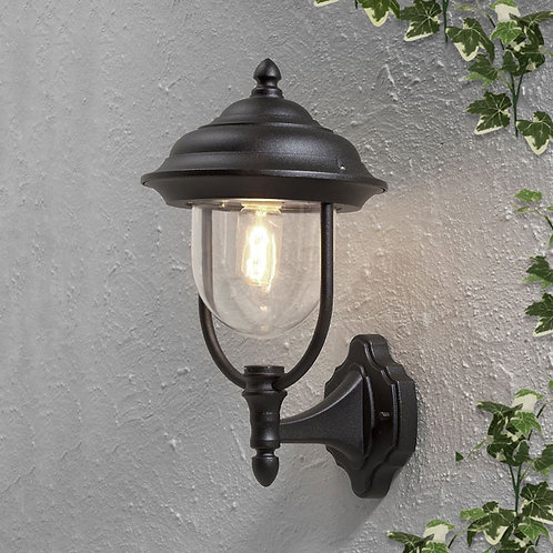 Black Upward Outdoor Wall Light