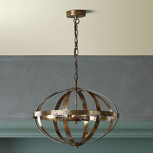 Globe Effect Copper Pendant Light