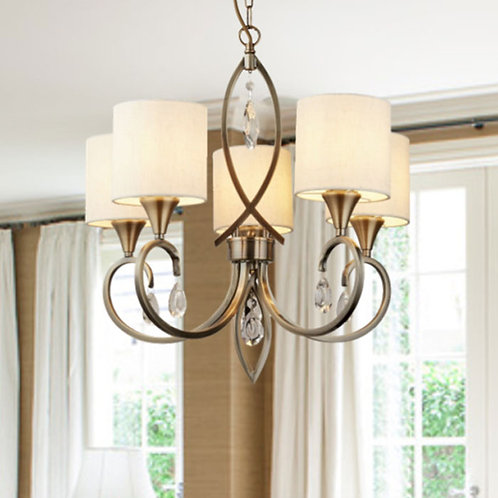 Antique 5 Light Brass Pendant