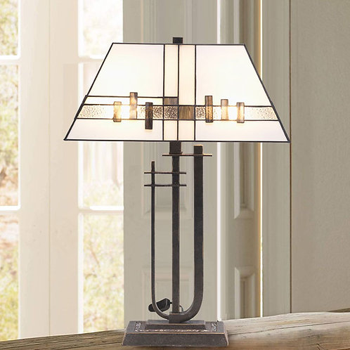 Tiffany Glass Art Deco Table Lamp