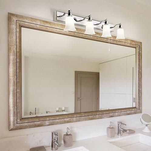 Bathroom LED 4 Light Wall Light in Polished Chrome