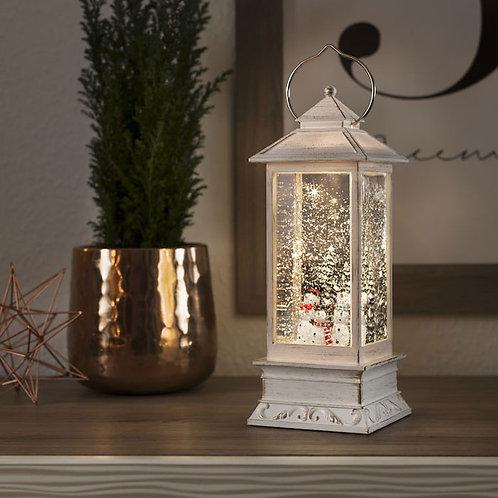 White LED Snowman Water Lantern