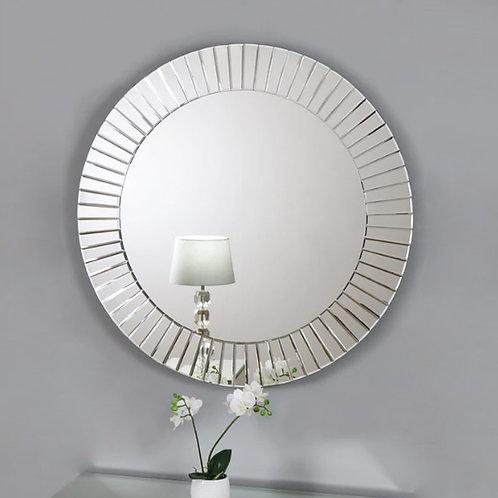 Sundial Beveled Round Mirror