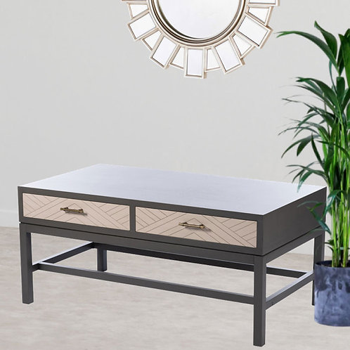 Dark Grey 2-Drawer Coffee Table