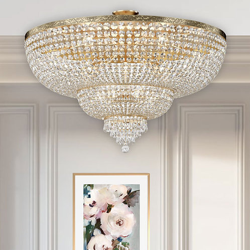 Gold Palace Ceiling Light with 18 Lights