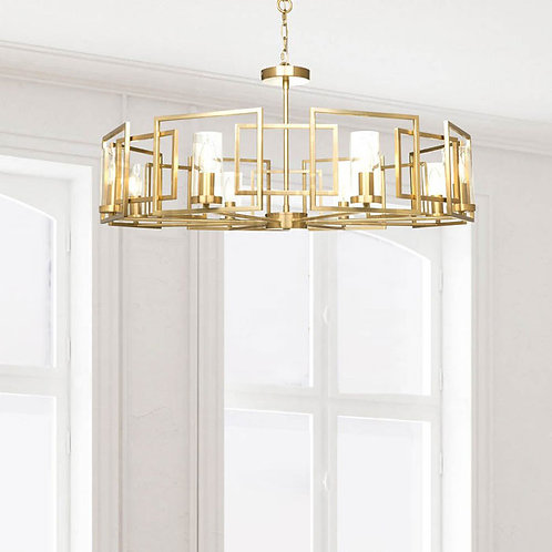 Modern 8 Light Gold Pendant