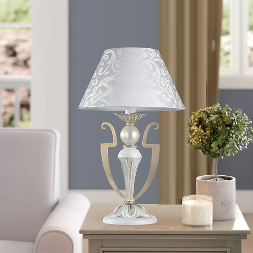 Decorative Greek White and Gold Table Lamp