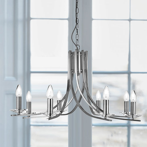 Modern Twisted Pendant Fitting with 8 Lights