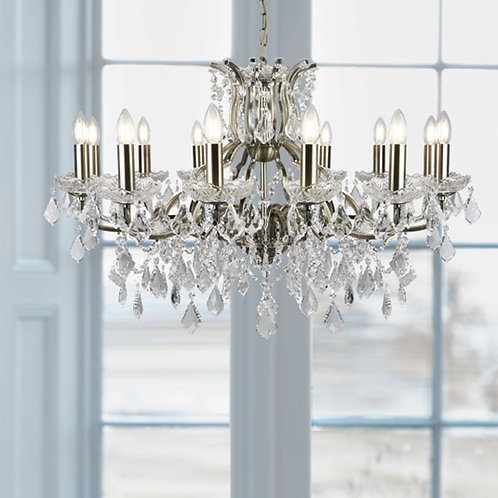 Luxury 12 Light Crystal Droplet Chandelier