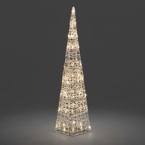 90cm Acrylic Pyramid with 48 LED Lights