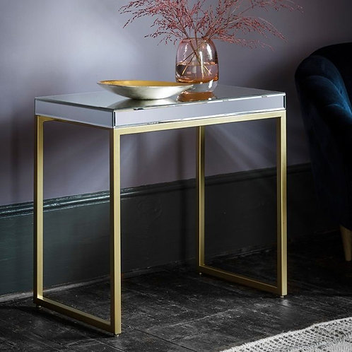 Mirrored Champagne Side Table