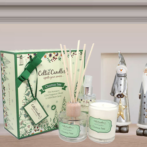 Celtic Candles Christmas Tree Gift Set
