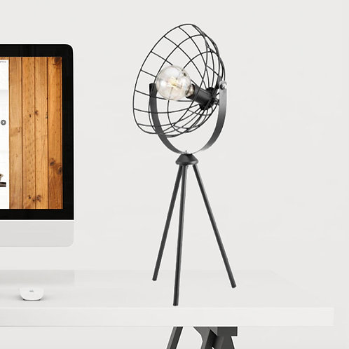 Tripod Cage Effect Table Lamp