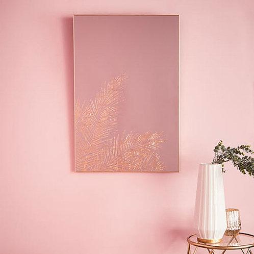 Leaf Silhouette Gold Mirror