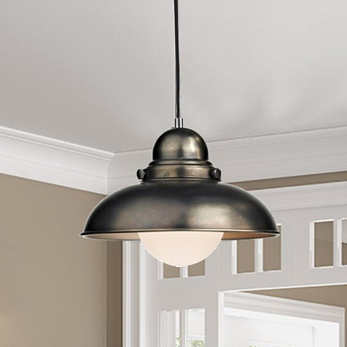 Antique Chrome Ceiling Light