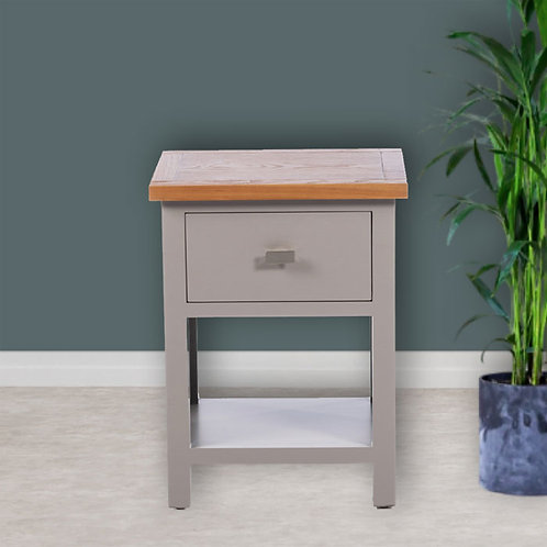 Two Tone One Drawer Side Table