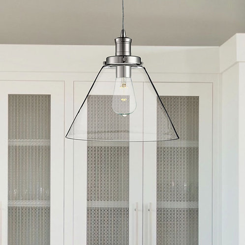 Single Clear Glass Ceiling Pendant