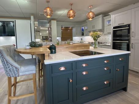 Sneak Peak Inside Woodbank Kitchens New Showroom featuring lighting by Castle Lighting Omagh