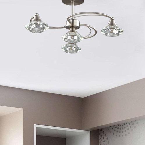 Semi Flush 4 Light Spiral Arm Ceiling Light