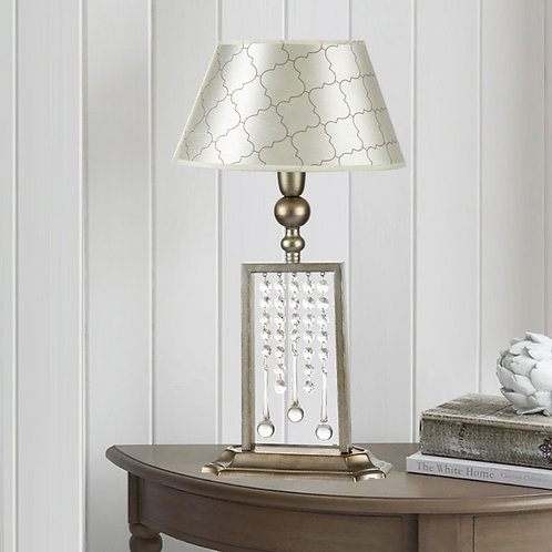 Art Deco Table Lamp with Crystal Effect