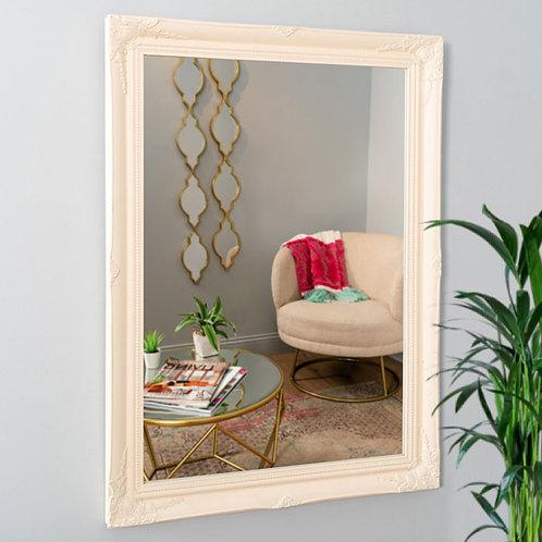 White Ornate Wall Mirror 60 x 90