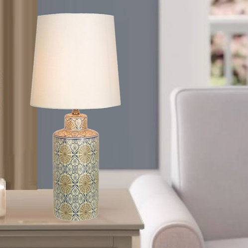 Decorative Floral Pattern Table Lamp