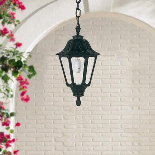 Hexagonal Black Hanging Lantern