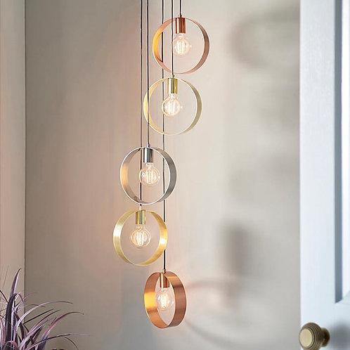 Modern 5 Light Hoop Ceiling Pendent