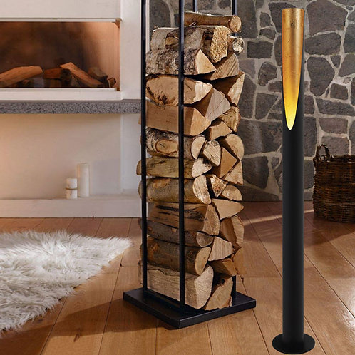 Black and Gold Fired LED Floor Lamp