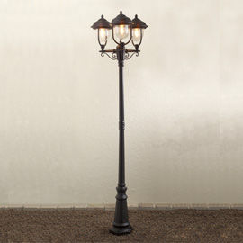 7227-750 Parma Triple Lamp Post - Black