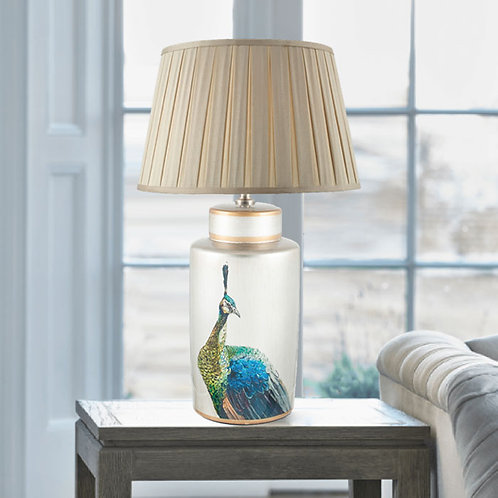 Hand Painted Peacock Table Lamp