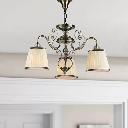 Vintage Inspired Antique Brass 3 Light Pendant